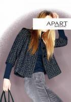 APART - Tweed-Blazer marine-grau-creme Gr. 38 - OVP - NEU