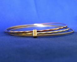 ARMREIF TRICOLOR 585 (14 KT) GOLD