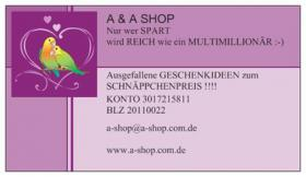 A & A SHOP : ANGEL`s & AMOR`s GESCHENKIDEEN