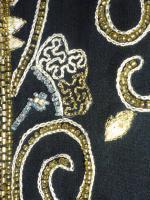 Foto 2 Abendjacke mit Perlen bestickt schwarz/Goldgelb