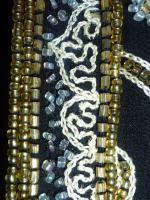 Foto 3 Abendjacke mit Perlen bestickt schwarz/Goldgelb