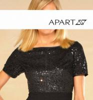 Abendkleid mit Pailletten schwarz von APART Gr. 38 - OVP - NEU