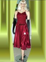 Foto 2 Abendkleid mit Rautenstickereien - Neu -  Grosse:38 - 42