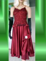 Foto 3 Abendkleid mit Rautenstickereien - Neu -  Grosse:38 - 42