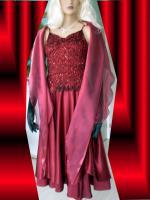 Foto 4 Abendkleid mit Rautenstickereien - Neu -  Grosse:38 - 42