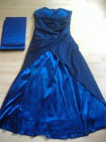 Abendkleid - dunkelblau Gr. 44/46 - lang - NEU