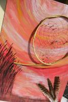 Foto 2 Abendstimmung- Dreamcatcherbild mit Federn