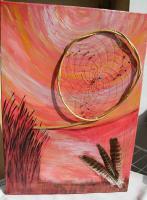 Foto 3 Abendstimmung- Dreamcatcherbild mit Federn