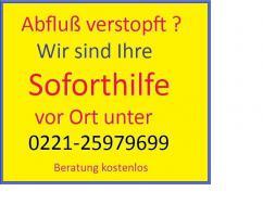 Abfluss Köln 24 Std. Kundendienst Tel.0221-25979699