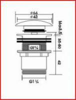 Foto 2 Ablaufgarnitur mit Klickablauf rund (B03) - OVP - NEU