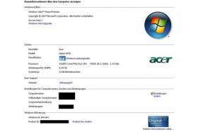 Foto 8 Acer Aspire 18,4Zoll/9600MGT/4096GBRAM/300GBneue Festplatte