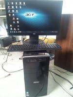 Acer Aspire M3410 Computer + Fujitsu Flachbildschirm (51cm)