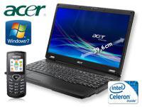 Acer Extensa 5235-902G16N Notebook +Samsung E1170 schwarz +T-Mobile Relax 120 Friends mit Vertrag