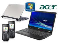 Acer Extensa 5235-902G16N Notebook+Acer Aspire One D250 Netbook mit Vertrag+2x Samsung E1170 schwarz