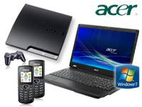 Acer Extensa 5235-902G16N Notebook+Sony PlayStation 3 Slim 120 GB mit Vertrag+2x Samsung E1170