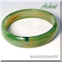 Achat Armreif - grün /orange