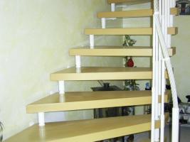 Kenngott-Treppe mit Echtholz und Einzelaufhängung