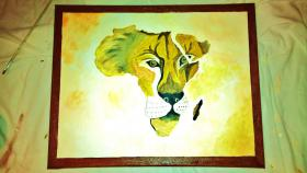 Foto 2 Acryl-Bilder im Afrika Stil
