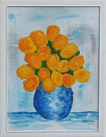 Acrylbild Blumen