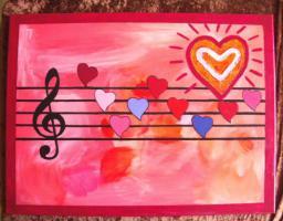 Acrylbild Symphonie der Herzen