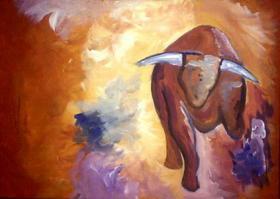 Acrylbild Taurus 70 x 50 cm eindrucksvoll