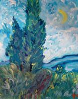 Acrylbild nach Vincent v. Gogh preiswert