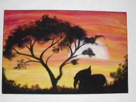 Acrylgemälde / Bild / Keilrahmen / Afrika / AFRICAN MOOD