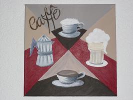 Acrylgemälde / Bild / Keilrahmen / Kaffee / Cafe / Coffee / CAFFÈ ITALIANO