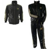 Adidas Chile 62 Trainingsanzug Schwarz Gold Neu mit Etikett Gr. XL, M, S
