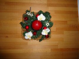 Foto 2 Adventskränzen und Kerzenhalter