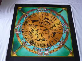 Ägyptisches Bild''Tierkreiszeichen v.Dendera'' auf einer Aluplatte
