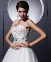 Foto 2 Ärmellos Prinzessin bodenlanges Brautkleid-mode-top.de
