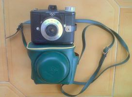 Agfa CLACK 6 x 9  Rollfilmkamera der 50er Jahre + Original Tasche ,