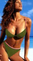 Air-Bra-Push-up-Bikini - Oliv - Gr��e 36 A-Cup - Neu & OVP