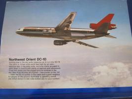 Airline-Postkarte von 1979 NW Orient Airline