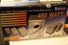 Aktiv Soundsystem mit Power Subwoofer