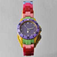 Aktuelle Armbanduhr Watch bunte Ice Farben
