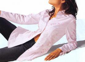 Alba Moda - Bluse mit Strass rose Gr. 42 - OVP - NEU