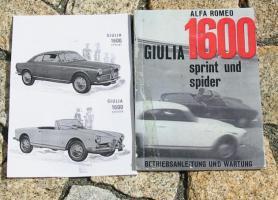 Alfa Romeo Giulia Spider Betriebsanleitung / 1962