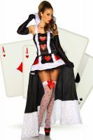 Alice im Wunderland-Kost�m schwarz/wei�/rot Gr. S-M - OVP - NEU