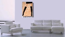 Foto 2 Alissa- Acrylgemälde 70x50cm gespachtelt, Frau, erotisch