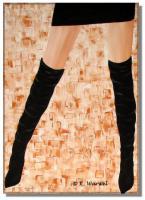 Foto 3 Alissa- Acrylgemälde 70x50cm gespachtelt, Frau, erotisch