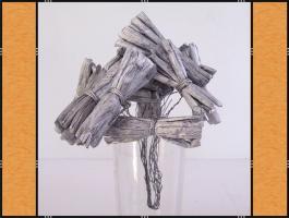 Foto 4 Alles in Silber – (Korb, Schleifen, Blumenstecker, Kranz, Kerzen)