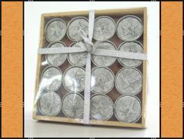 Foto 6 Alles in Silber – (Korb, Schleifen, Blumenstecker, Kranz, Kerzen)