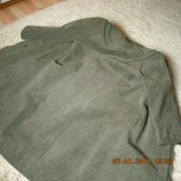 Foto 3 Alpaka Damenmantel, olivgrün, Gr. 40