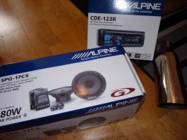 Alpine Radio + Alpine 2 Wege Lautsprecher + Magnaflow Endtopf