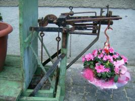 Foto 4 Alte Dezimalwaage mit Gewichten ( Schweinewaage / Sackwaage / Kartoffelwaage / Turmwaage/ Dezimal Waage)