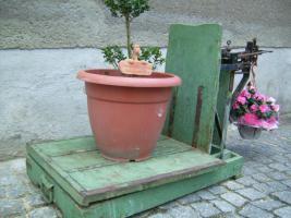 Foto 5 Alte Dezimalwaage mit Gewichten ( Schweinewaage / Sackwaage / Kartoffelwaage / Turmwaage/ Dezimal Waage)