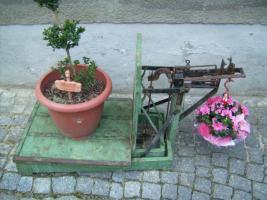 Foto 6 Alte Dezimalwaage mit Gewichten ( Schweinewaage / Sackwaage / Kartoffelwaage / Turmwaage/ Dezimal Waage)