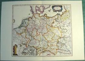 Alte Karte Deutschland um 1665  (B037)